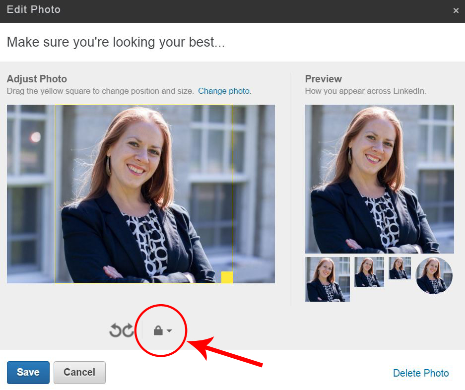 LinkedIn Photo Privacy