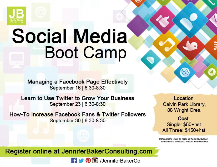 Social Media Training Boot Camp Kingston