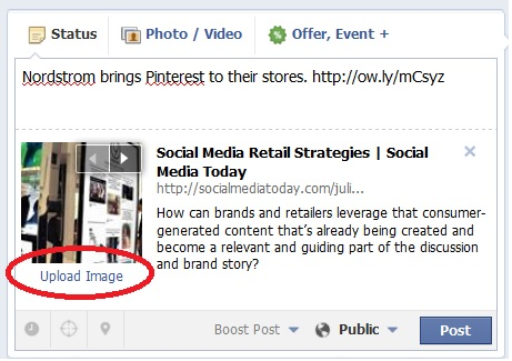 Upload an Image to Links on Facebook
