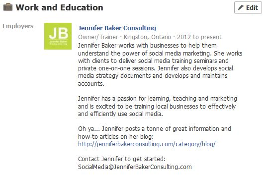 Work and education jennifer baker consulting