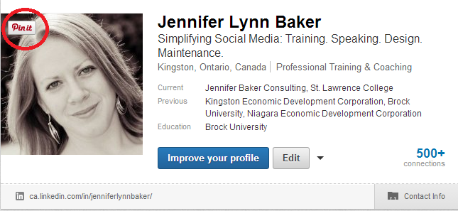 how to add photo to linkedin